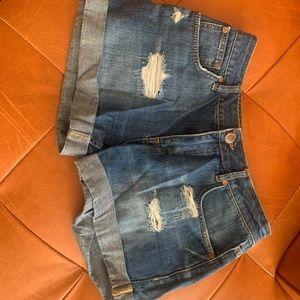 Distressed Denim Shorts Size US 6
